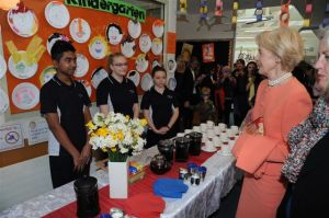 The Governor-General meets with Hospitality Students from the Senior Site.